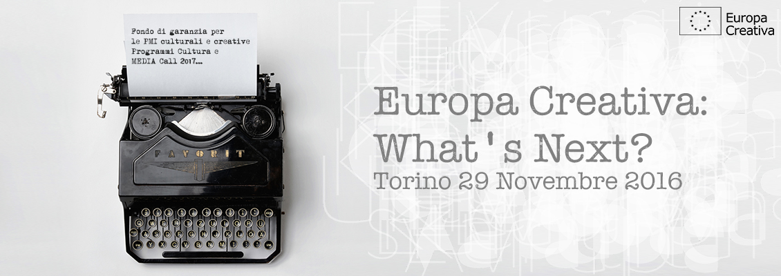 Banner promozionale dell'evento Europa Creativa: what's next?